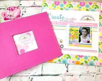 Doodlebug Design/Story Album Kit/Scrapbooking Kit/Spring Album/Create in color/Girl Album/Easter Album/Family Album/Tutorial