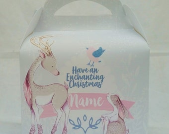 Enchanted Christmas Wodland Gift Box Party Favour