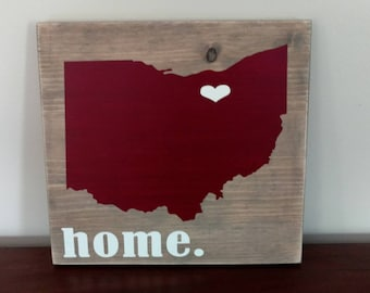 Ohio State Wood Sign.Ohio Wood Sign.State Sign.Home Decor.Wall Art.Rustic Wood Sign.Rustic Wood Decor.Wood Sign.Housewarming Gift.Ohio Sign