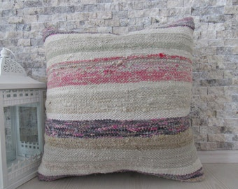 natural kilim pillow 18 x 18 handmade kilim pillow decorative pillow for couch turkey embroidery design kilim cushion sofa pillow