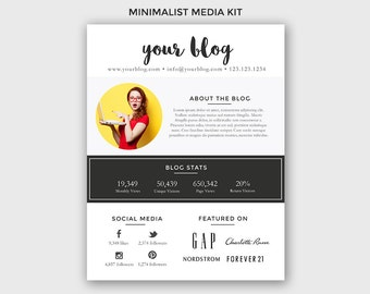 Blogger Media Kit Template - Photoshop PSD *INSTANT DOWNLOAD*