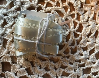 1/2 Inch Vintage Silk lace with eyelet border