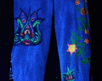 UV, psy trance, Goa, leggings and Festival clothing, blacklight, pants