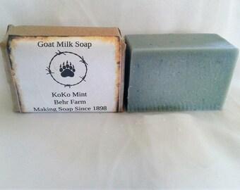 KOKO Mint Goats Milk Soap