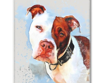 "8"" X 10"" Custom Pet Portrait Standout (Digital Watercolor Style)"