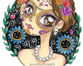 "Original Art ""Frida x Day of the Dead"""