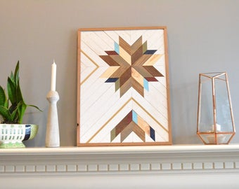 Wood wall art, white/brown/blue/natural/maroon/gray/gold/teal/navy/gray, burst, flower, decor, panel, pine, cedar, lath 18in x 24in