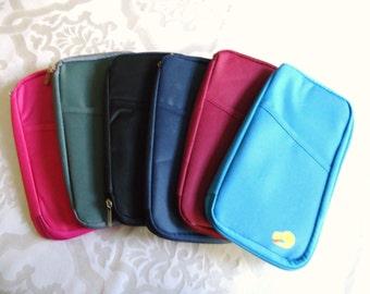 on the go planner supply case - pouch. organizer  pencil pen case. travel passport organizer