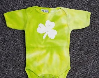 Tie Dye Shamrock Infant Onsie