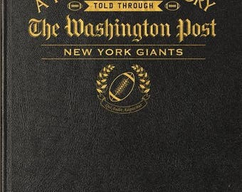 Washington Post New York Giants Football Book - Leather