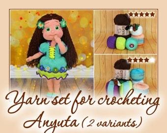 Yarn set for crocheting Anyuta