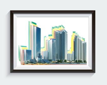 Skyline Building Printable Art