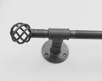 Iron Curtain Pole Any Size! | Steampunk / Industrial | HANDMADE in the UK!