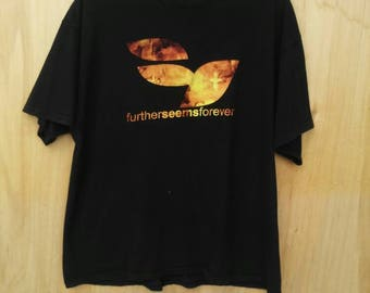 Rare Further Seems Forever How To Start A Fire T-shirt Sz XL Emo / Indie Rock / Criss Carabba