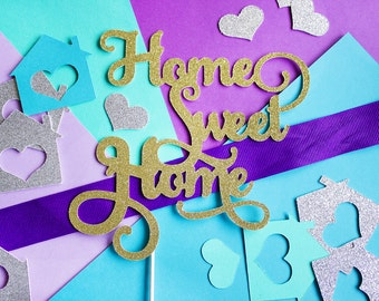 Home Sweet Home Cake Topper, Housewarming Party, Home Sweet Home, Housewarming Decor, Welcome Home, House Warming Party, New House Topper