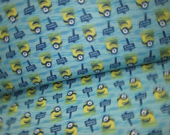 Fabric cotton 100% on grounds the minions ideal for your sewing project