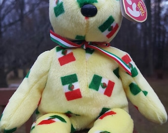 Vintage - Ty Beanie Baby - PINATA bear, Retired