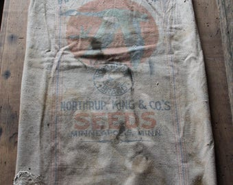 Northland Brand / Bemis Seamless canvas seed sack