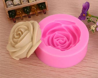 Mould 3D Rose Cute Cake Baking Decorating Silicone Love