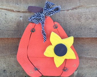 Primitive Pumpkin Wall Hanging