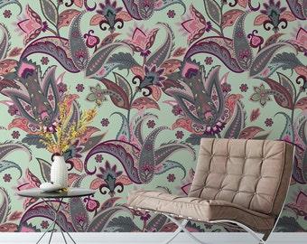 Paisley Wall Pattern Tile Sticker 0757JO