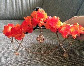 Chain flower crown