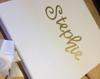 Bridesmaid gift box, grooms gift, bridesmaid personalised gift. Wedding gift box
