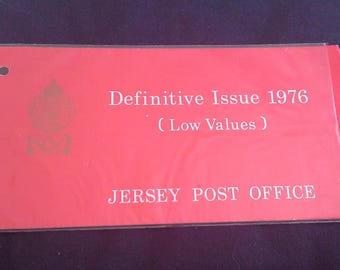 Jersey stamp presentation pack - Definitive issue 1976 low values