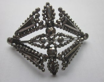 Art Deco Cut Steel Brooch Pin