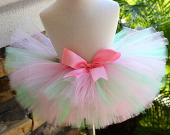 Mint and Light Pink Tutu, Mint Tutu, Light Pink Tutu, Newborn Tutu, Toddler Tutu, Birthday Girl Tutu, 1st Birthday Tutu