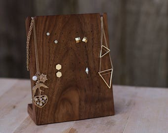 Wooden Earring Display Stand / Stud Earring Display / Necklace Display / Jewelry Organizer