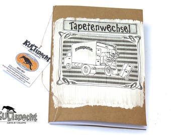 Original moving house, Reminder souvenir, gift for moving-in, Checklist Removals, Renovation, little photoalbum,