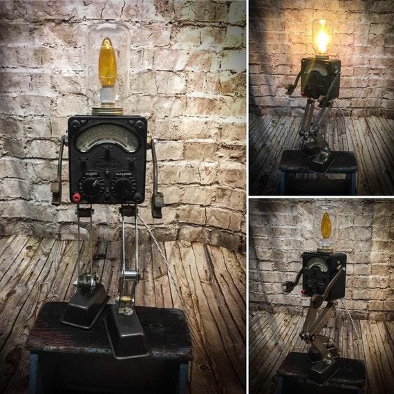 Robot Salvage Lamp