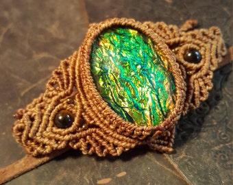 Shades of Green Resin Bracelete