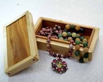 Wooden Jewelry Box    Casket   Wooden Jewellery Box  Exotic Wood Box    Storage