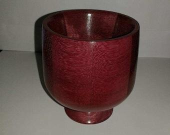 Handmade Exotic Purple Heart Wood Goblet