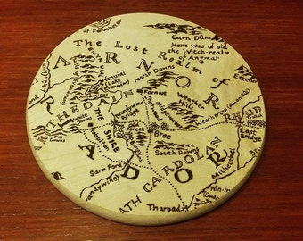 Middle Earth Map Detail | Shire & Surroundings on Wood