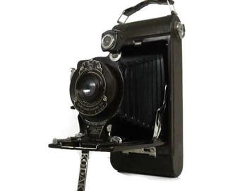 Vintage Eastman Kodak Co. Camera | Brown No. 1A Pocket Kodak Camera | Old EKC Folding Bellows Camera | Unique Photography Display Camera