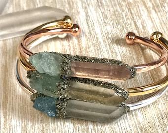 aquamarine bracelet, inspirational Jewelry, birthstone gold cuff bracelet, Personalized-gift, boho jewelry, best selling items, healing