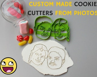 Custom Couple Portrait Cookie Cutter.Brand New.Perfect Gift.Party Favor. Portrait Cookie Cutter