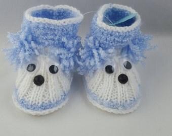 Blue or green/pink baby socks Knitted socks gift for kids autumn kidswear baby boy girl wool socks kids socks kidsBaby booties, baby shoes