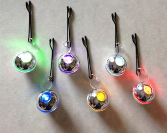 Platinum Beard Lights Fairy Lights Fairy Beard Lights Quantum Beard Lights Beard Art Baubles Beard Bling Beard Ornaments Set of Six Lights