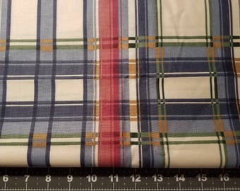 Plaid  Canvas Cotton Blend by The Yard