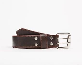 Handcrafted leather belt // Vavilov