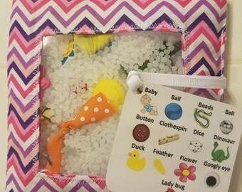 I-Spy bag, Quiet bag, Busy bag, Toddler toy, kids toy,game,chevron, Pink and purple bag, Eye spy bag