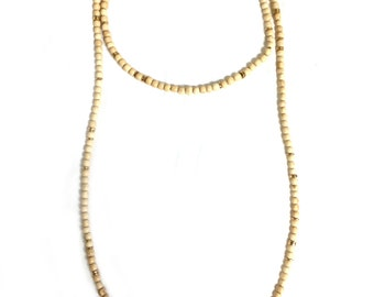 Double Wrap Necklace - Cream