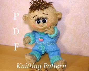 PATTERN-Doll knitting toy Knitted Doll  toy doll Handmade PDF  Interior doll Knitted toy amigurumi toy doll, Decor doll Gift  Knitting doll