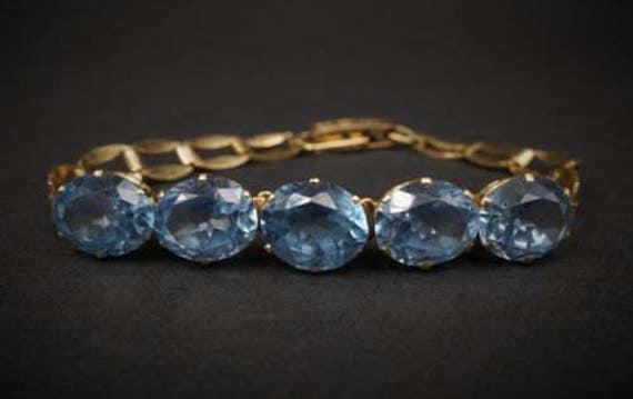 Victorian Antique 14k Yellow Gold Topaz Bracelet BG153