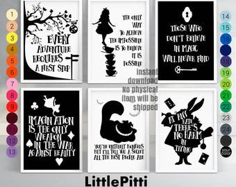 Alice in wonderland decorations, baby girl gift, alice in wonderland quotes, baby girl nursery, disney alice in wonderland, Lewis Carroll
