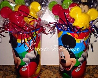 1dz. Chocolate Mickey Mouse Lollipops. Made with High Quality Ingredients! Dessert Table. Party Favors. Chocolate Lollipops.